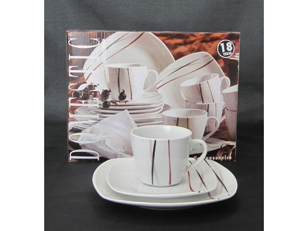 AMELIE kávová Souprava 18 dílná