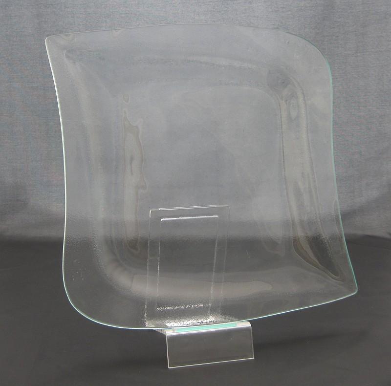 LA MUSICA GLASS Talíř plochý 29x28 cm
