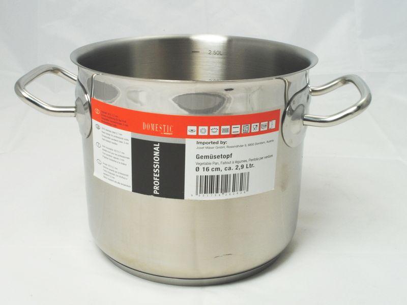 PROFESSIONAL Hrnec na zeleninu 16 cm, 18/10, 0,7 mm