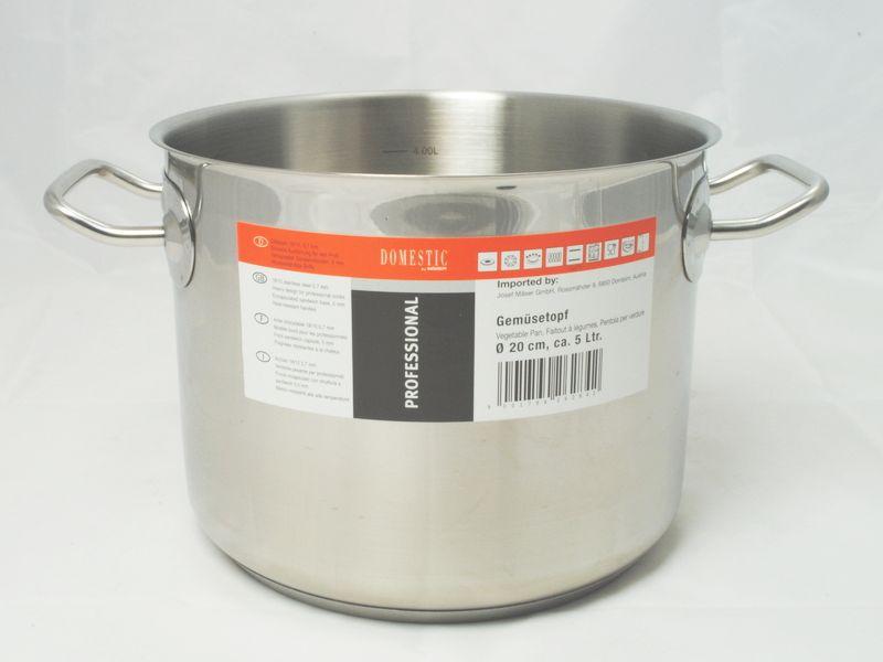 PROFESSIONAL Hrnec na zeleninu 20 cm, 18/10, 0,7 mm