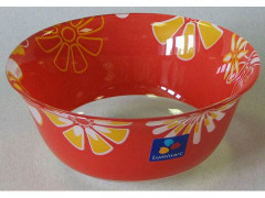 GRAPHIC FLOWERS RED Miska 12 cm